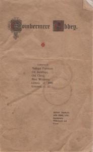 Combermere 1919 auction catalogue 001
